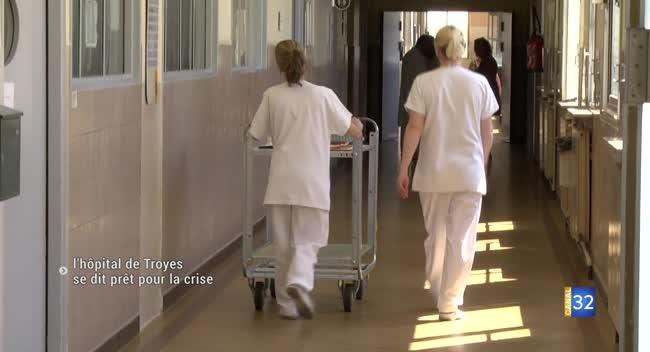 Canal 32 - Covid-19 : le Centre hospitalier de Troyes se dit prêt pour affronter l'épidémie