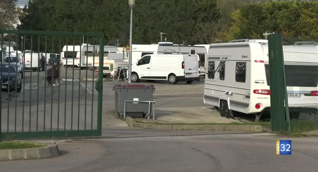 Canal 32 - Creney : les gens du voyage dénoncent les conditions d'accueil sur l'aire Troyes-Pompidou