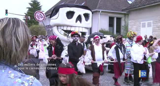 Canal 32 - Creney-Près-Troyes : la 35ème édition du carnaval a rassemblé des milliers de participants