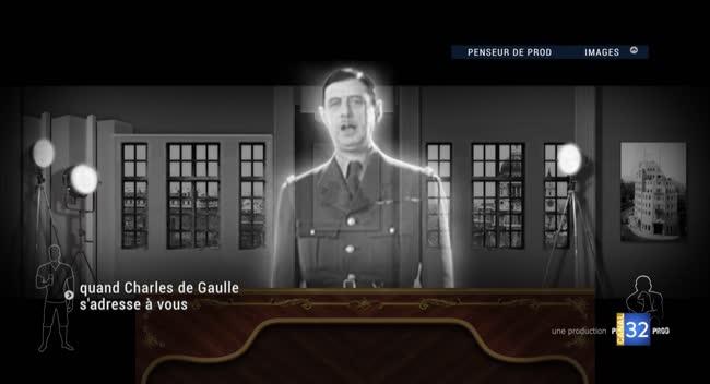 Canal 32 - De Gaulle en vrai : une projection grandeur nature du Général