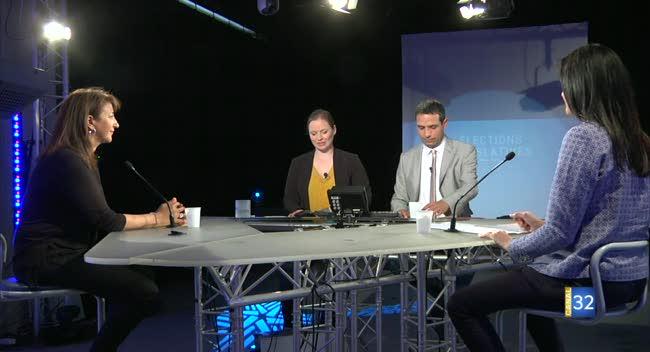 Canal 32 - Législatives (second tour) : débat entre Djamila Haddad (LREM) et Valérie Bazin-Malgras (LR) - 2e circo