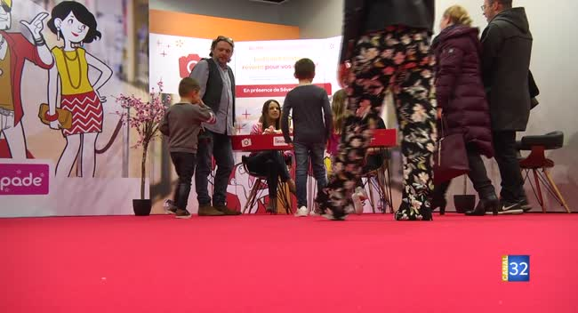 Canal 32 - Des Aubois peut-être futurs mannequins avec le casting de l'agence de Séverine Ferrer