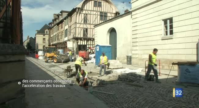 Canal 32 - Travaux dans le quartier Cathédrale : les commerçants fatalistes