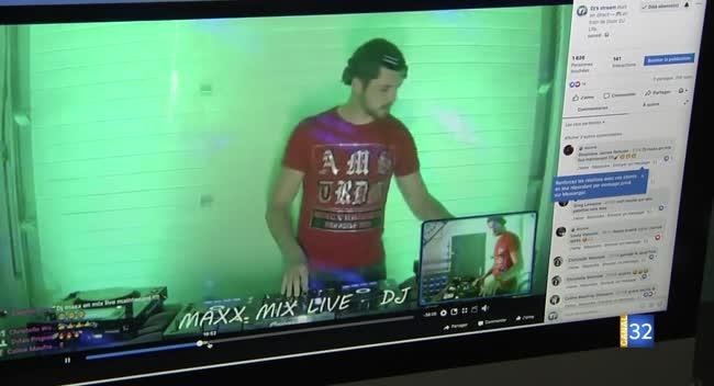 Canal 32 - Des DJ Aubois à la maison lors de la fête de la musique