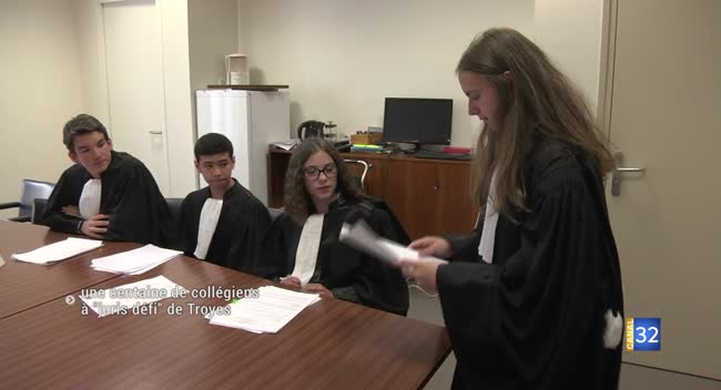 Canal 32 - Des élèves de 4ème dans la peau de professionnels de la justice et du droit
