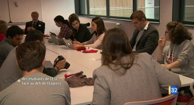 Canal 32 - Des étudiants de l'ESC face au défi de l'Express