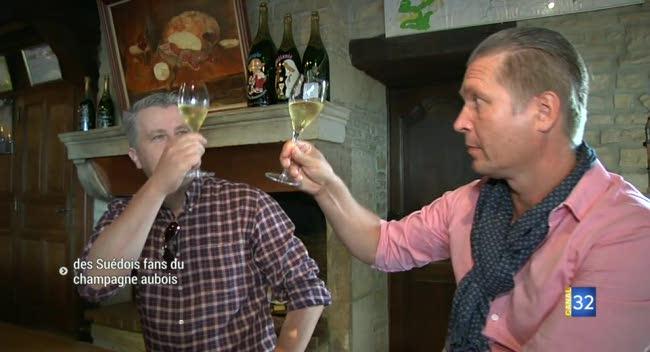Canal 32 - Fontette : des importateurs Suédois séduits par le champagne aubois