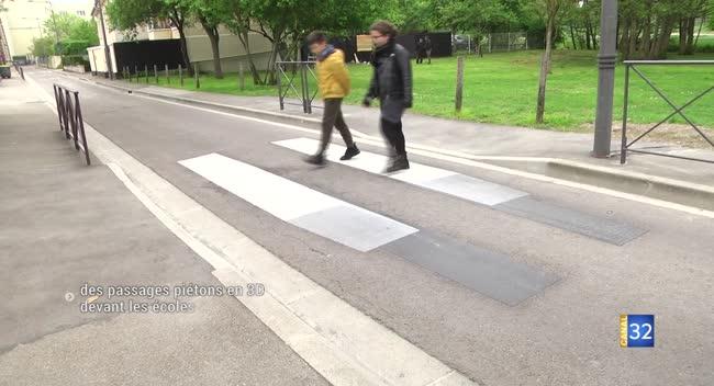Canal 32 - Troyes : des passages piétons en 3D pour inciter les automobilistes à ralentir