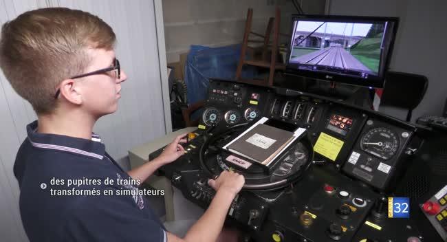 Canal 32 - Crésantignes : les postes de conduite de locomotives transformés en simulateurs