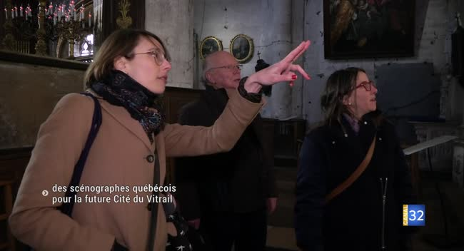 Canal 32 - Troyes : des scénographes québécois pour la future Cité du Vitrail
