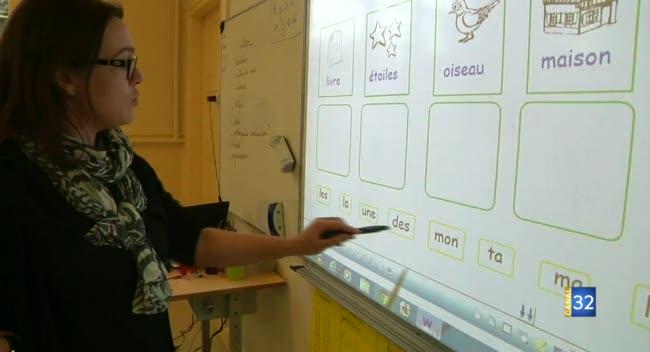 Canal 32 - Des tableaux intéractifs dans toutes les écoles troyennes