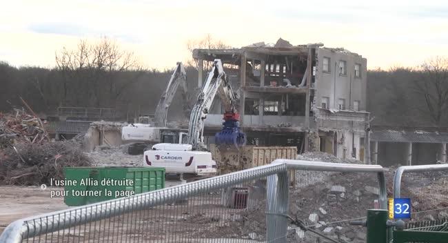 Canal 32 - Destruction de l'usine Allia, le point deux ans après sa fermeture