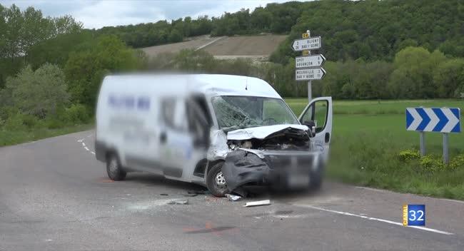 Canal 32 - Deux blessés légers lors d'un accident de la route à Bligny