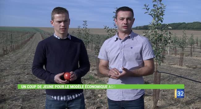 Canal 32 - Deux jeunes renouvellent les perspectives agricoles en Pays d'Othe