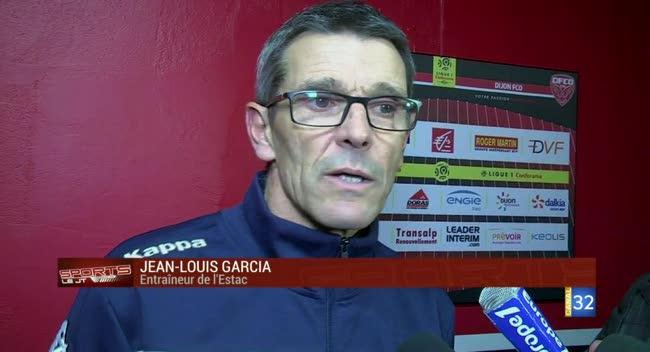 Canal 32 - Dijon - Estac, la réaction de Jean-Louis Garcia : Ce match doit nous servir de leçon !