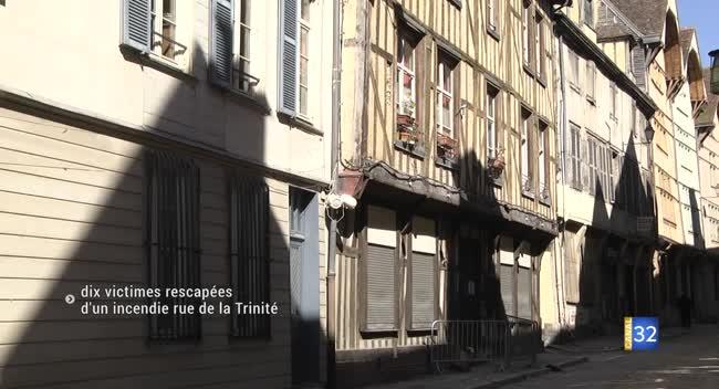 Canal 32 - Dix personnes rescapées d'un incendie rue de la Trinité à Troyes