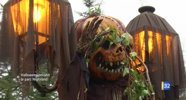 Canal 32 - Dolancourt : le parc d'attractions Nigloland prêt pour Halloween