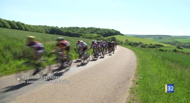 Canal 32 -  Estissac : une centaine de policiers cyclistes sur les routes auboises