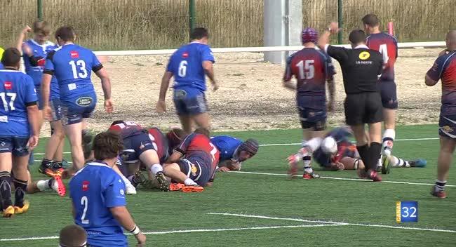 Canal 32 - Rugby : le RCSA inaugure avec succès son nouveau stade en atomisant Centre Meuse : 71-5