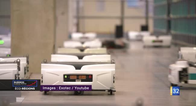 Canal 32 - ECO REGIONS - Exotec, la pépite française de la robotique logistique