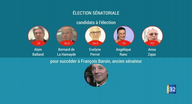 Canal 32 - Election sénatoriale partielle dans l'Aube : 5 candidats pour succéder à François Baroin