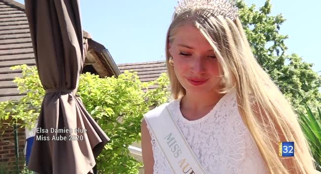 Canal 32 - Elsa Damien élue Miss Aube 2020