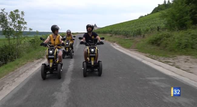 Canal 32 - Escapades près d'Epernay - en scooter électrique