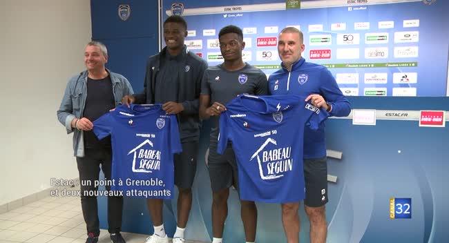 Canal 32 - Estac : un bon point à Grenoble en Ligue 2 et deux attaquants présentés. Vidéo.