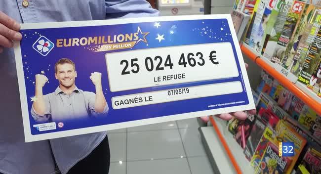 Canal 32 - Euromillions : le ticket à 25 millions d'euros validé à Saint-André-les-Vergers