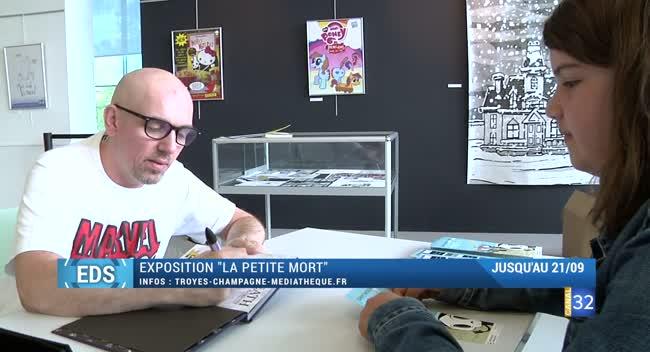 Canal 32 - Exposition La Petite Mort à la médiathèque de Troyes tout l'été !
