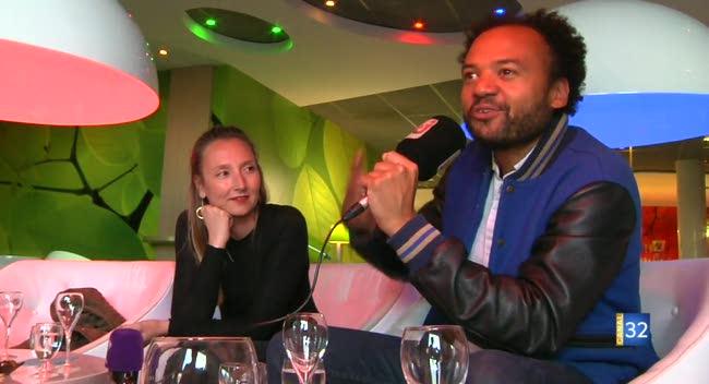 Canal 32 - Fabrice Éboué et Audrey Lamy en avant-première à Troyes