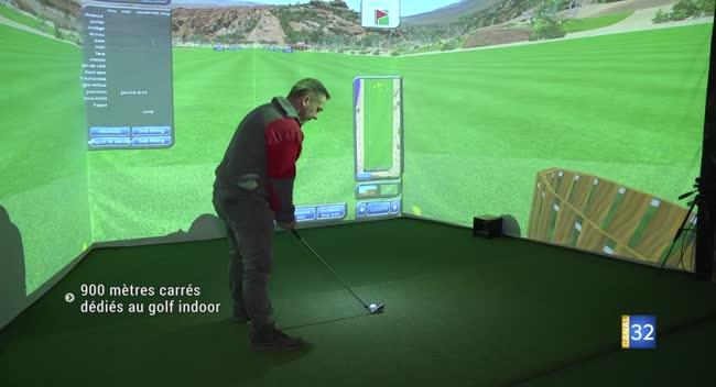 Canal 32 - Pratiquer du golf en intérieur, c'est désormais possible aux Écrevolles