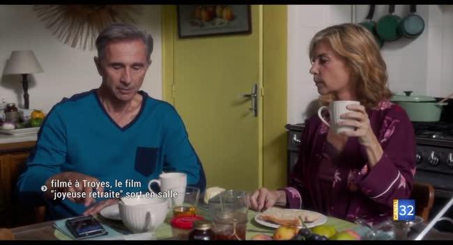 Canal 32 - Filmé dans l'Aube, le film Joyeuse Retraite sort en salle