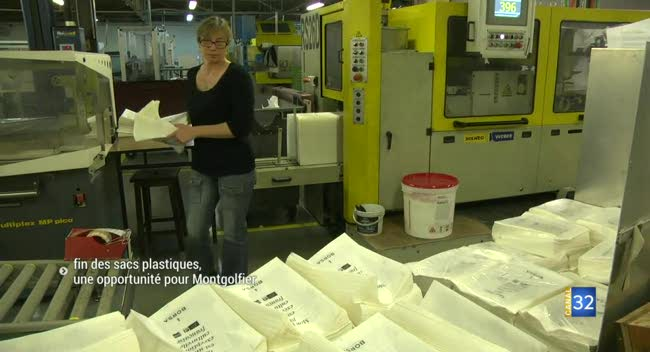 Canal 32 - Fin des sacs plastiques : une opportunité pour Montgolfier à la Chapelle