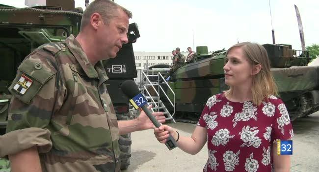Canal 32 - Foires de Champagne : le 5ème régiment de Dragons représente l'Armée de Terre