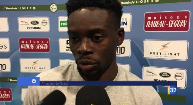 Canal 32 - Football L2, la réaction de Jonathan Tinhan et Rui Almeida après la rencontre contre Valenciennes (4-2)