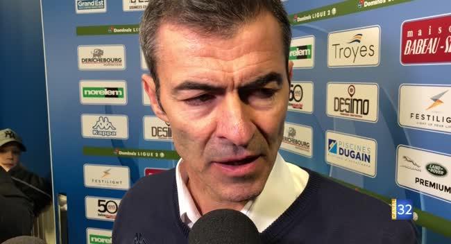 Canal 32 - Football L2, la réaction de Rui Almeida après Estac - Paris FC : 0-1