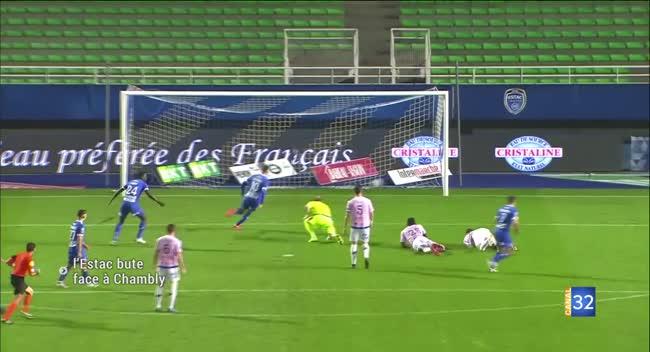 Canal 32 - Ligue 2 : l'Estac freinée par Chambly (résumé Vidéo)