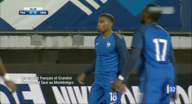 Canal 32 - Football : les Espoirs Français et Grandsir l'emportent face au Monténégro