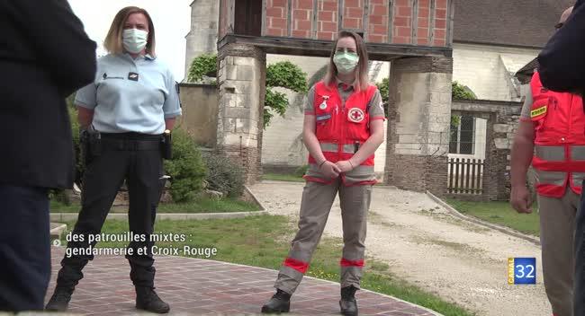 Canal 32 - Chennegy : Gendarmes et Croix-Rouge mènent des patrouilles mixtes