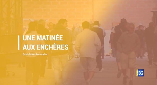 Canal 32 - Grand Format : Saint-Parres-les-Vaudes, la vente aux enchères attire les bricoleurs et professionnels du BTP