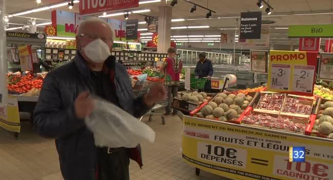 Canal 32 - Grand Format : dans les rayons d'un supermarché troyen face à la pandémie