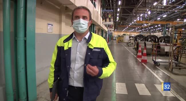 Canal 32 - Grand Format : Michelin relance sa production en adaptant ses règles de sécurité au Covid-19.