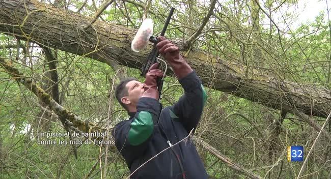 Canal 32 - Un lanceur de paintball pour détruire les nids de guêpes