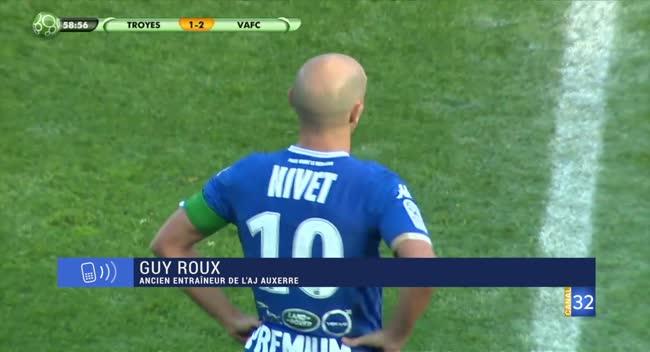Canal 32 - Guy Roux commente le départ de Benjamin Nivet