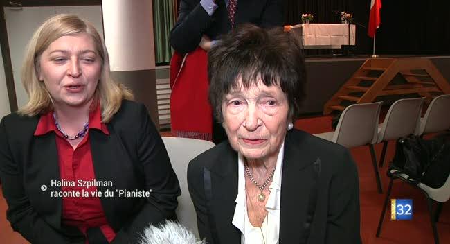 Canal 32 - Troyes : Halina Szpilman raconte la vie du Pianiste