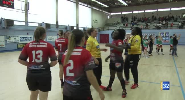 Canal 32 - Handball : le derby tourne à l'avantage de l'AS Sainte-Maure/Troyes face au RSJH
