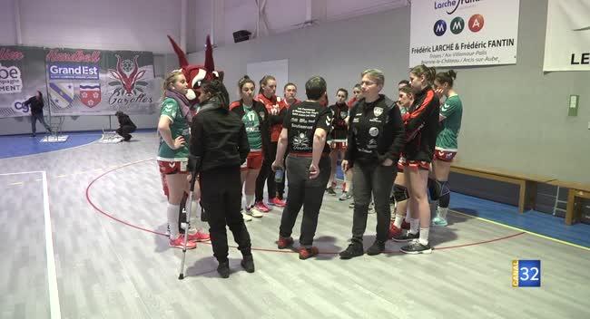 Canal 32 - Handball N2 : le RSJH déçoit une nouvelle fois son public devant l'AS Auxois : 27-32