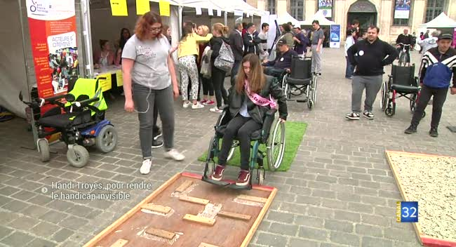 Canal 32 - Handi Troyes, pour rendre le handicap invisible