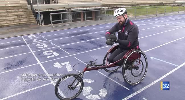 Canal 32 - Handisport : un marathon en fauteuil pour Jean-Baptiste